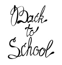 Lettering back to school september vector