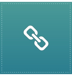Link flat icon vector