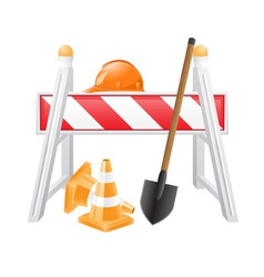 objects for road works vector image vector image