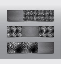 Silver sequins banners card brochure probe vector