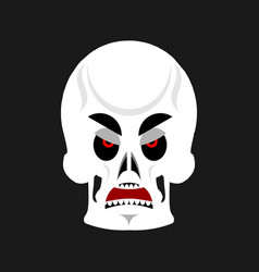 Skull angry emoji skeleton head grumpy emotion vector