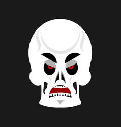 skull angry emoji skeleton head grumpy emotion vector image
