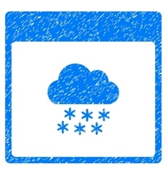 Snow cloud calendar page grainy texture icon vector