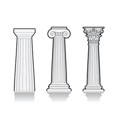 Stylized Greek columns vector image