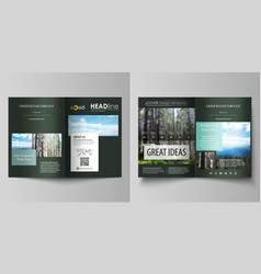 Templates for bi fold brochure flyer booklet or vector