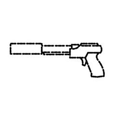 Videogame gun pistol vector
