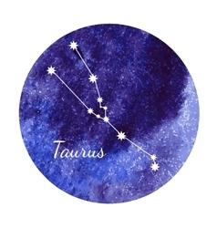 Watercolor horoscope sign taurus vector