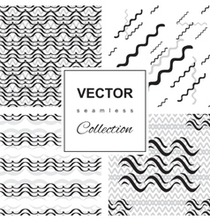 Wave icon pattern set vector image