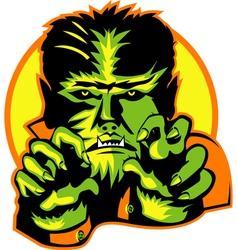 Werewolf howling vector image