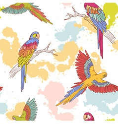Parrot seamless grunge vector image
