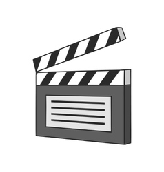 Clapperboard icon black monochrome style vector