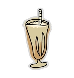Ice coffee drink vector
