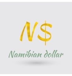 Golden symbol of the namibian dollar vector