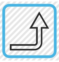 Turn up icon in a frame vector