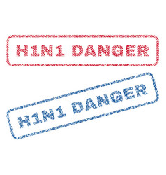 H1n1 danger textile stamps vector