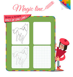 Draw a picture only of one horse vector