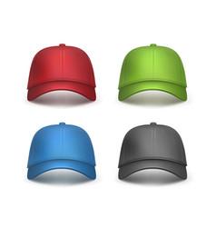 set of baseball caps vector image