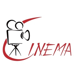 Cinema symbol vector image
