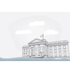 The white house in washington vector