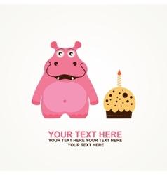 cute happy birthday card vector image