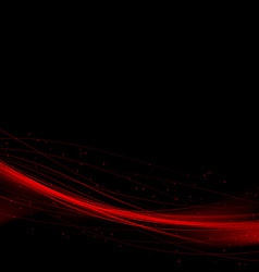 Bright red speed swoosh abstract lines background vector image