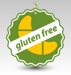 Green gluten free roll pastry stamp tag label vector