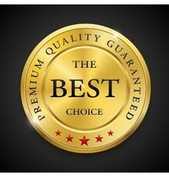 Best golden metal badges set Round gold medal or vector image