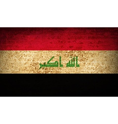 Flags iraq with dirty paper texture vector