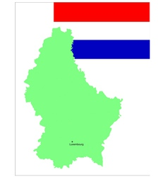 6143 luxembourg map and flag vector image vector image