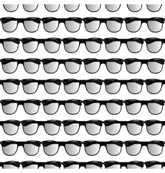 Seamless pattern of glasses vector