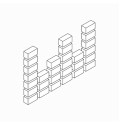 Digital equalizer icon isometric 3d style vector