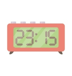 Retro digital table clock icon cartoon style vector