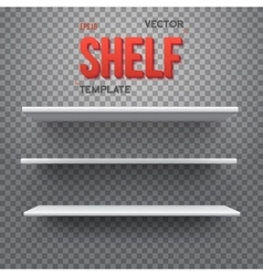 Realistic shelf eps10 empty shelf for vector