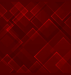 abstract red square shape technology laser vector image vector image
