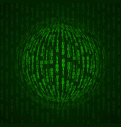 Ball of binary code abstract technology vector