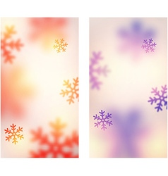 Blurred christmas banners vector