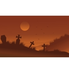 Brown bakcgrounds graveyards halloween silhouette vector