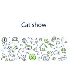 Cat show banner vector image vector image