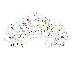 Confetti blast in different directions vector