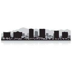 El Paso USA city skyline silhouette vector image vector image
