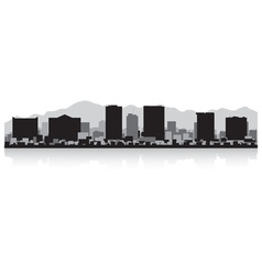 El Paso USA city skyline silhouette vector image