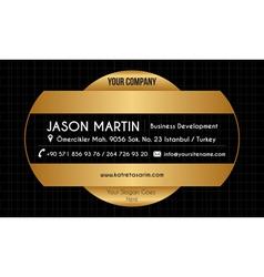 Golden creative business card vector