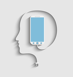 Human face profile vector image
