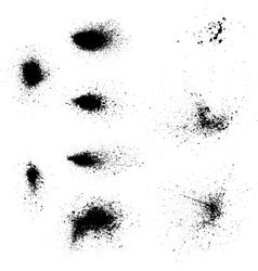 Ink blots splash vector