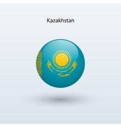 Kazakhstan round flag vector