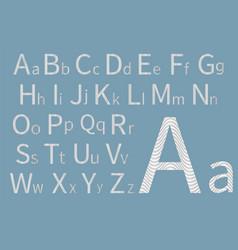 Latin alphabet concept font design modern art vector