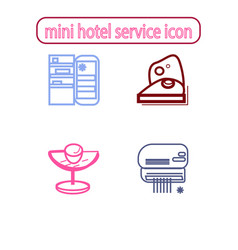 mini hotel services icons vector image