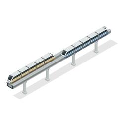 Monorail train sky train isometric vector