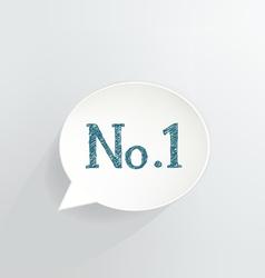 No1 vector image