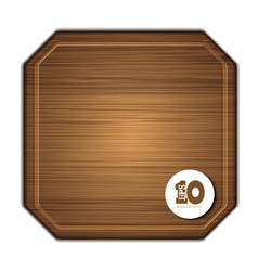 Octagon chopoping board vector